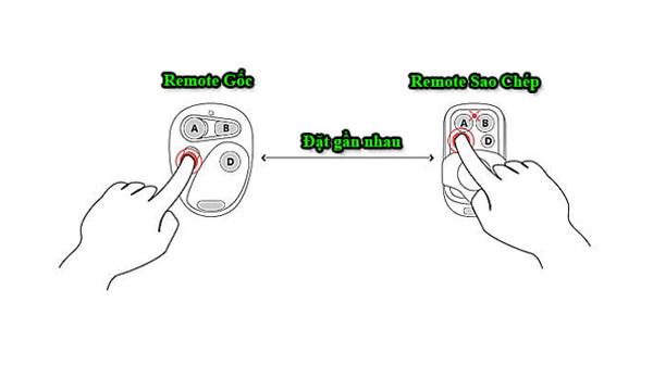 Cách sao chép điều khiển cửa cuốn đơn giản trong vòng 2 bước